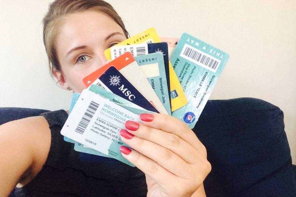 girl cruise cruising keycard collection msc ncl cunard room keys