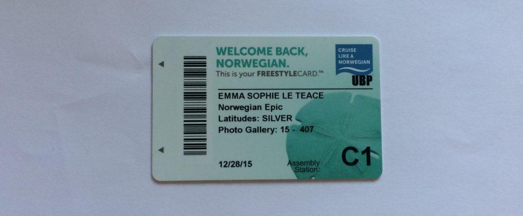 norwegian epic NCL cruise cruising key card room key ultimate beverage package