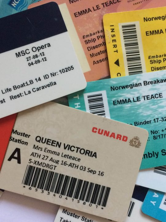 collection cruise cruising keycards room keys msc ncl cunard
