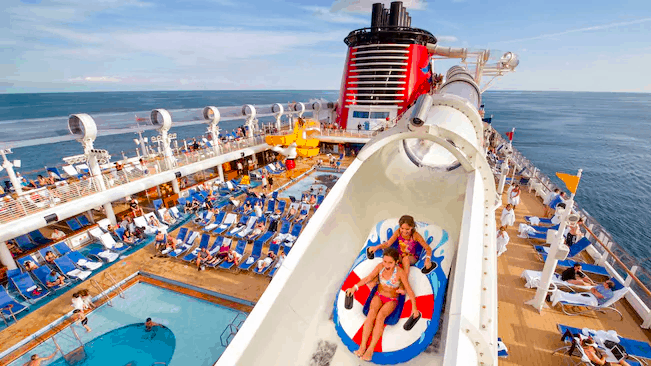 disney cruise line waterslide just adults or children