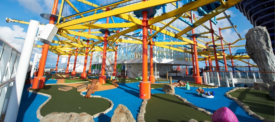 ncl norwegian cruise line ropes course