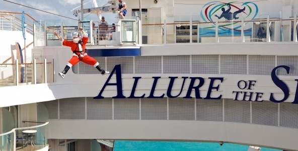 allure of the seas zip line