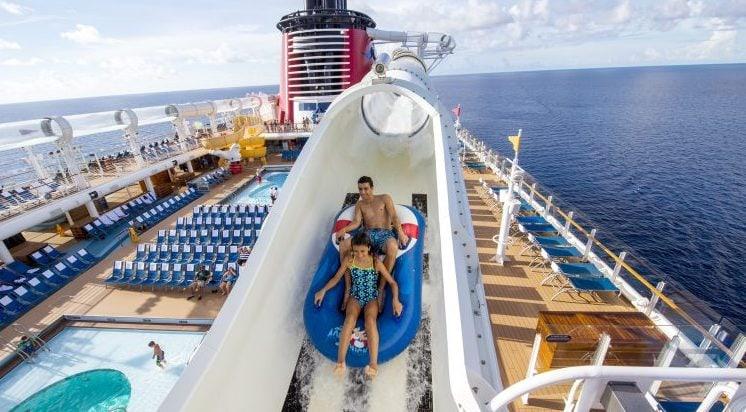 disney cruise line aqua duck waterslide rides theme park disney land