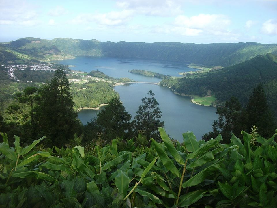 The azores nature lake blue green