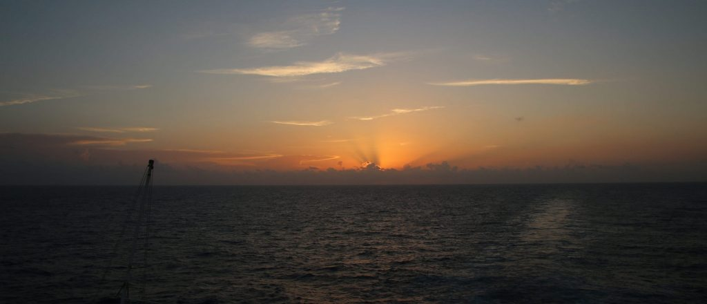 Carnival Cruise sun set over ocean early morning