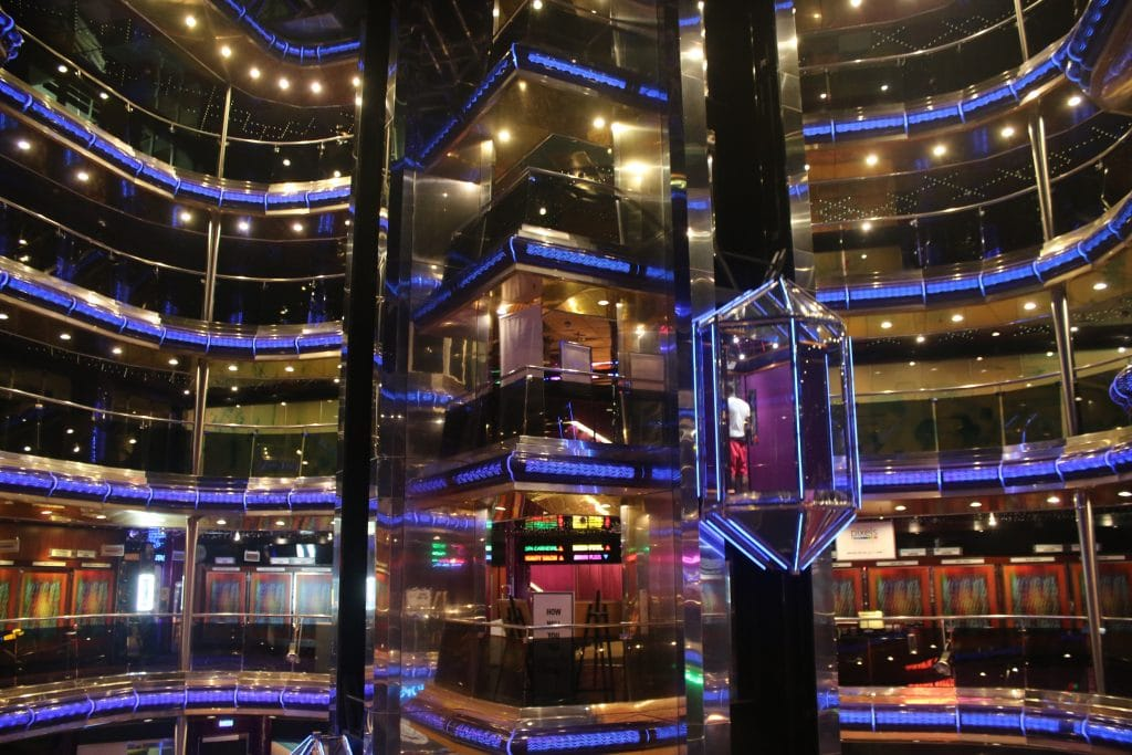 carnival sensation atrium glass elevator lift