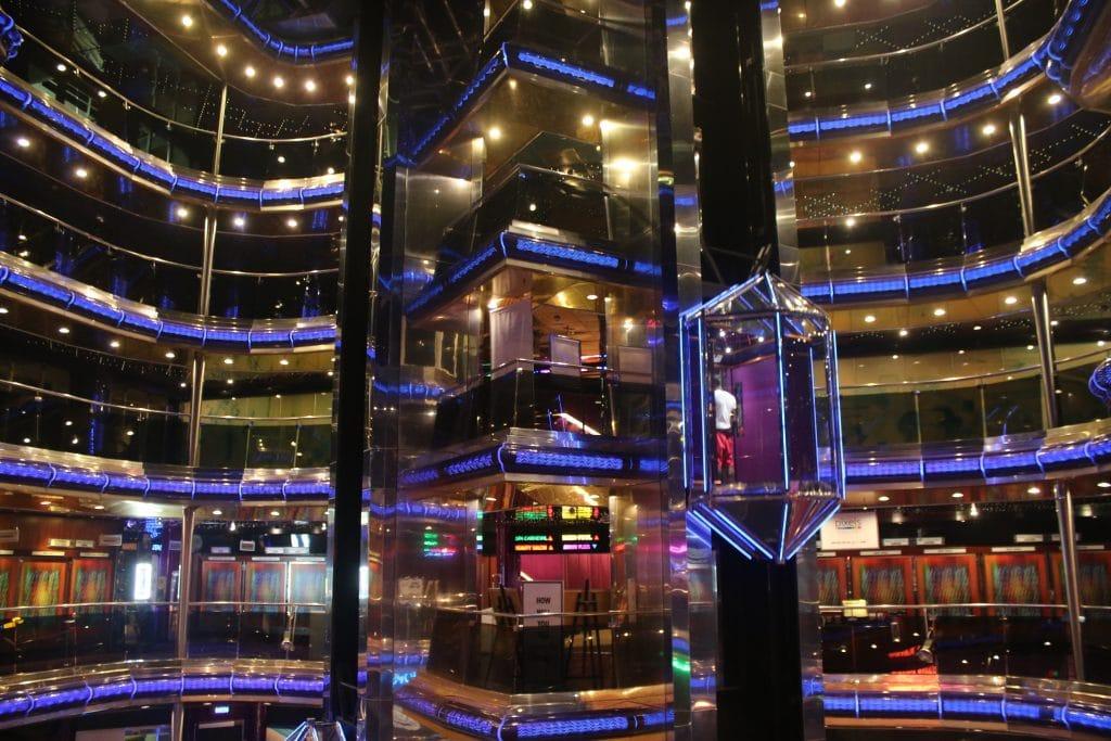 carnival sensation atrium glass elevator lift