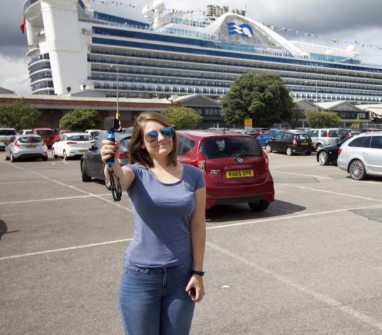caribbean princess selfie girl sunglasses go pro