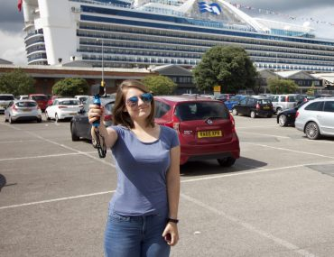 emma cruises cruising isnt just for old people caribbean princess cruise ship girl taking photo with go pro stick