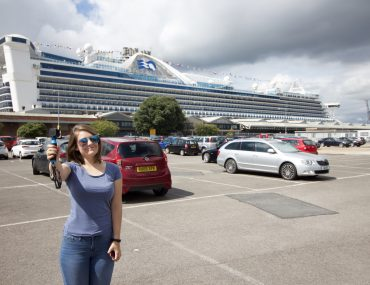 caribbean princess girl vlog blog go pro cruise ship car park southampton