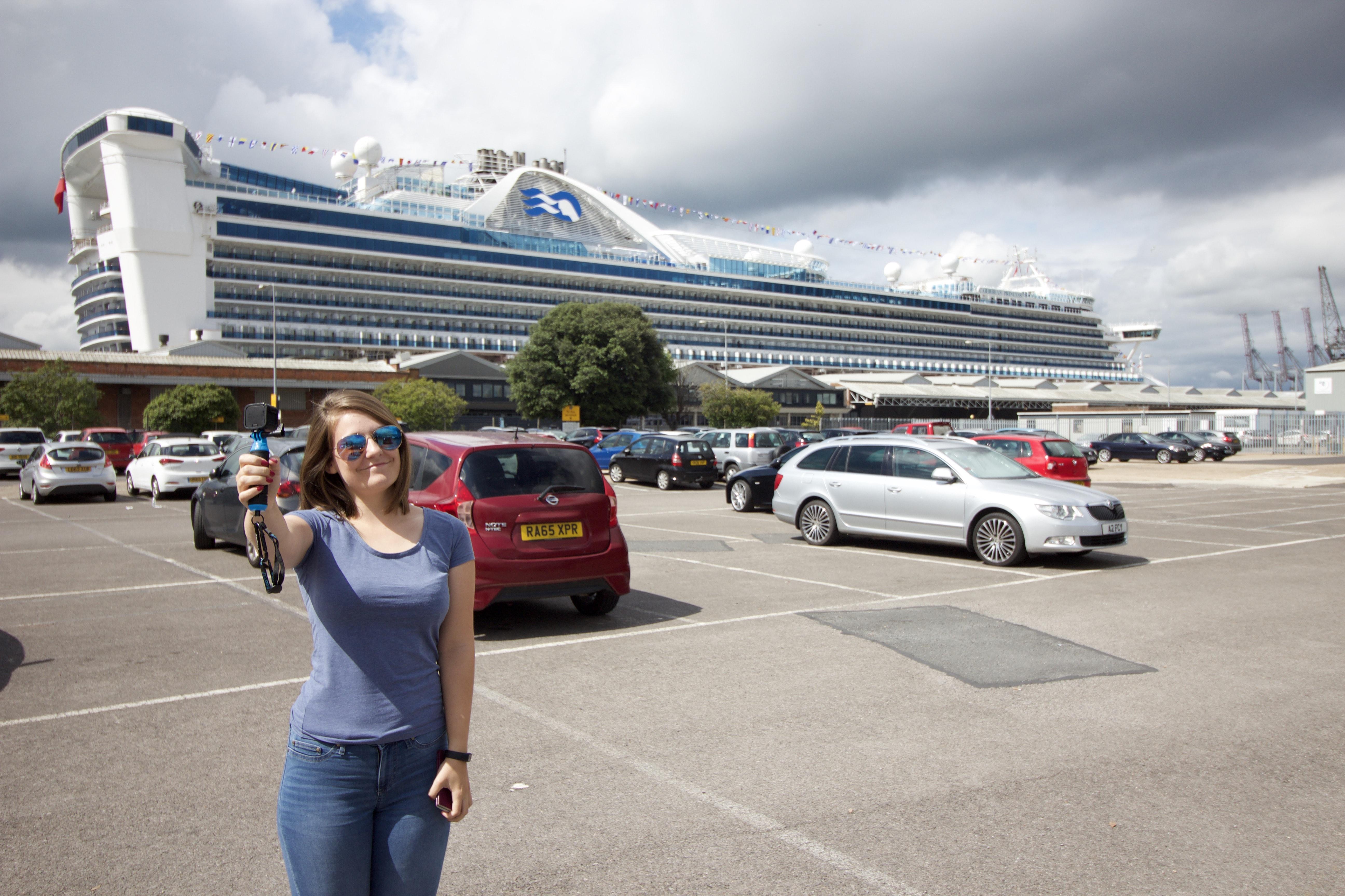 caribbean princess girl vlog blog go pro cruise ship car park southampton