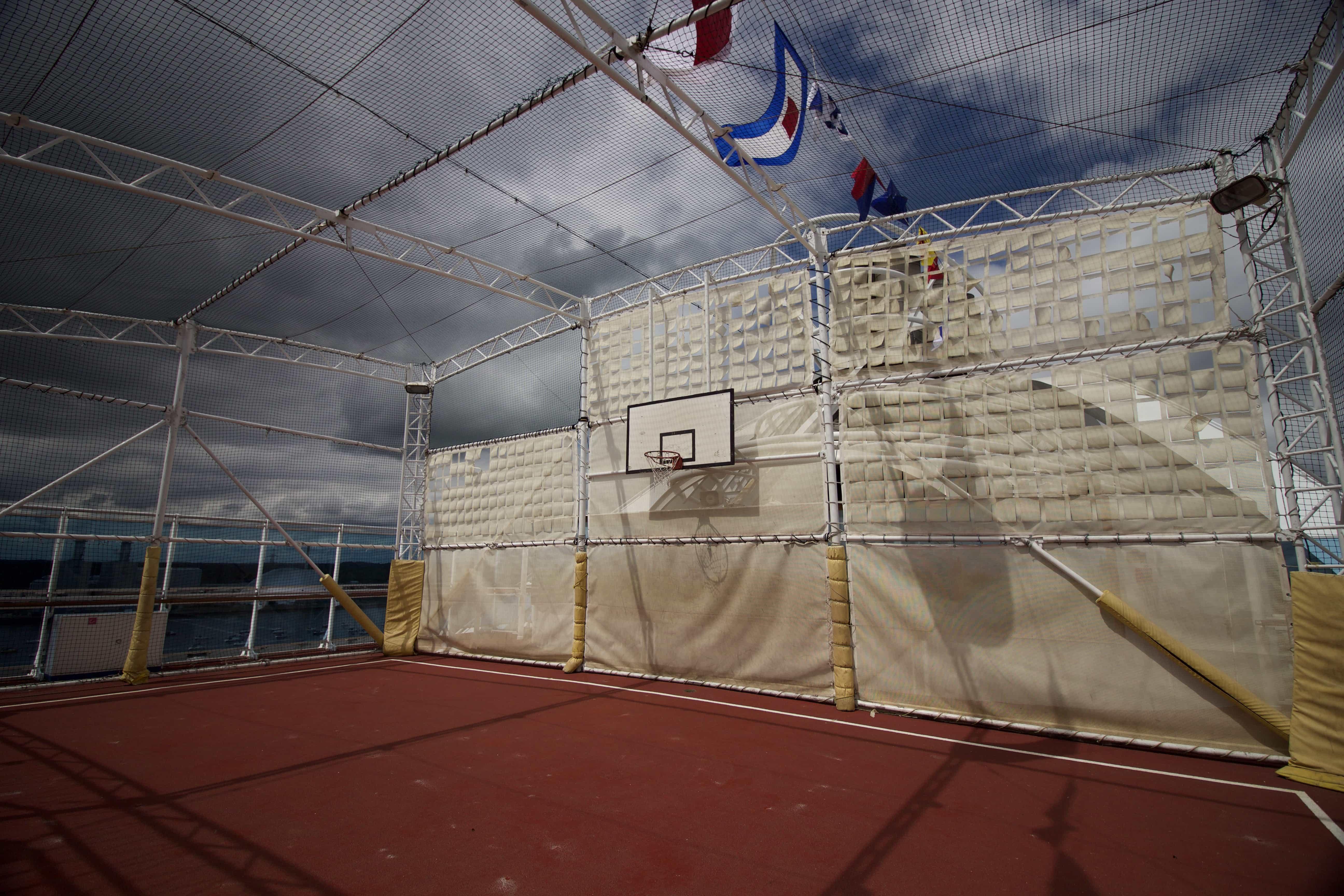 caribbean princess sports court basketball