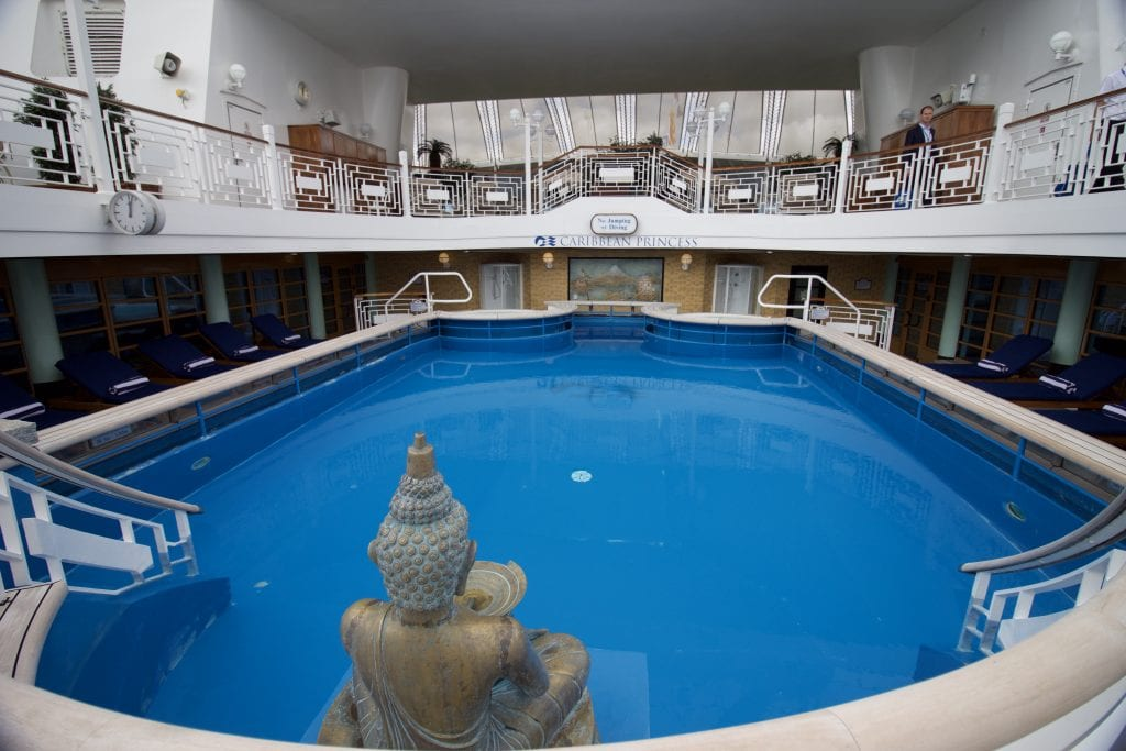 caribbean princess pool top deck spa