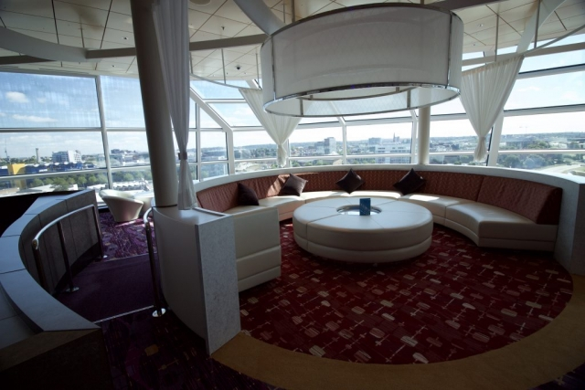 Celebrity Eclipse - Sky lounge relax ship cruise circle sofa drinks