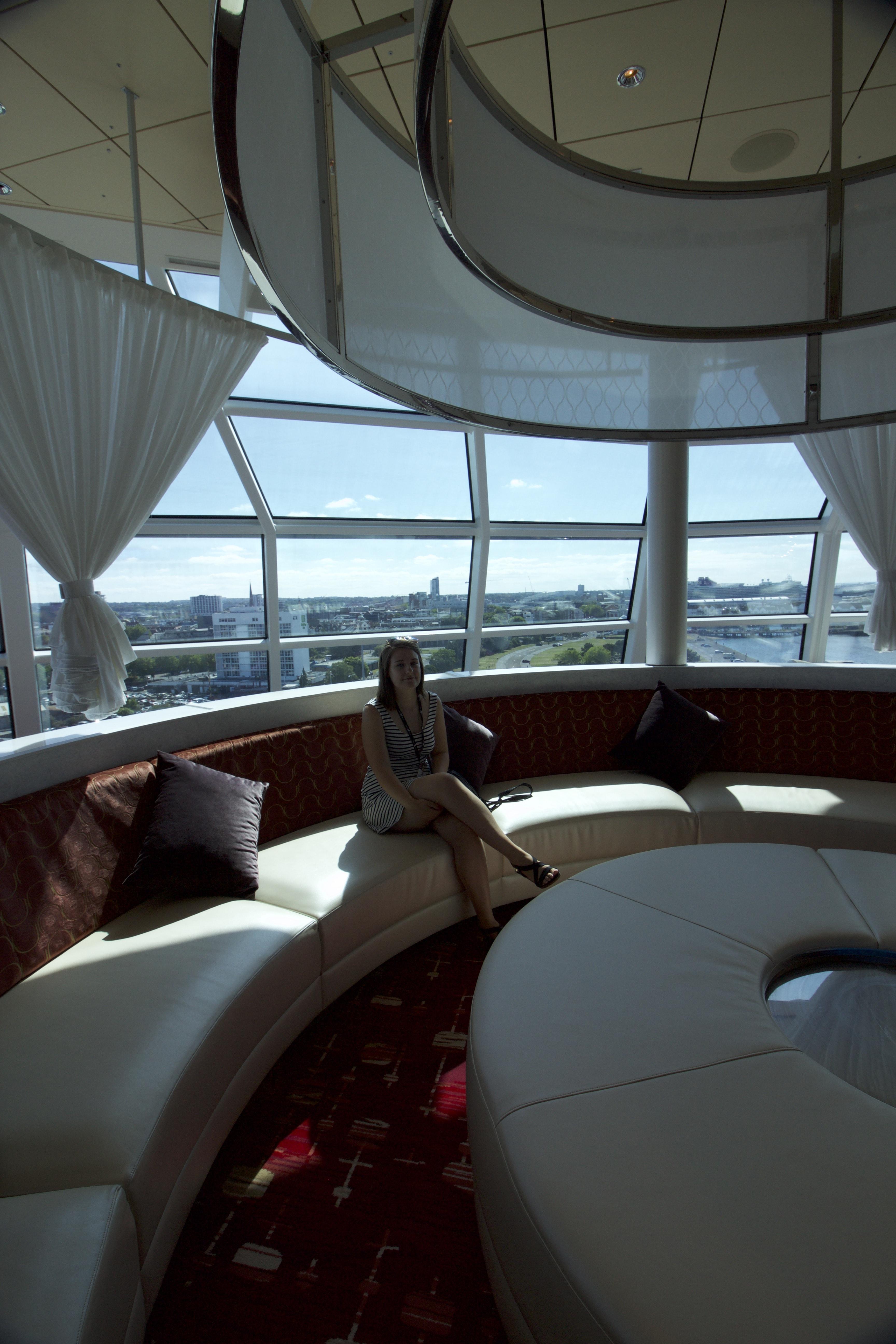 Celebrity Eclipse - Sky lounge girl sofa passenger cruiser young cruise ship