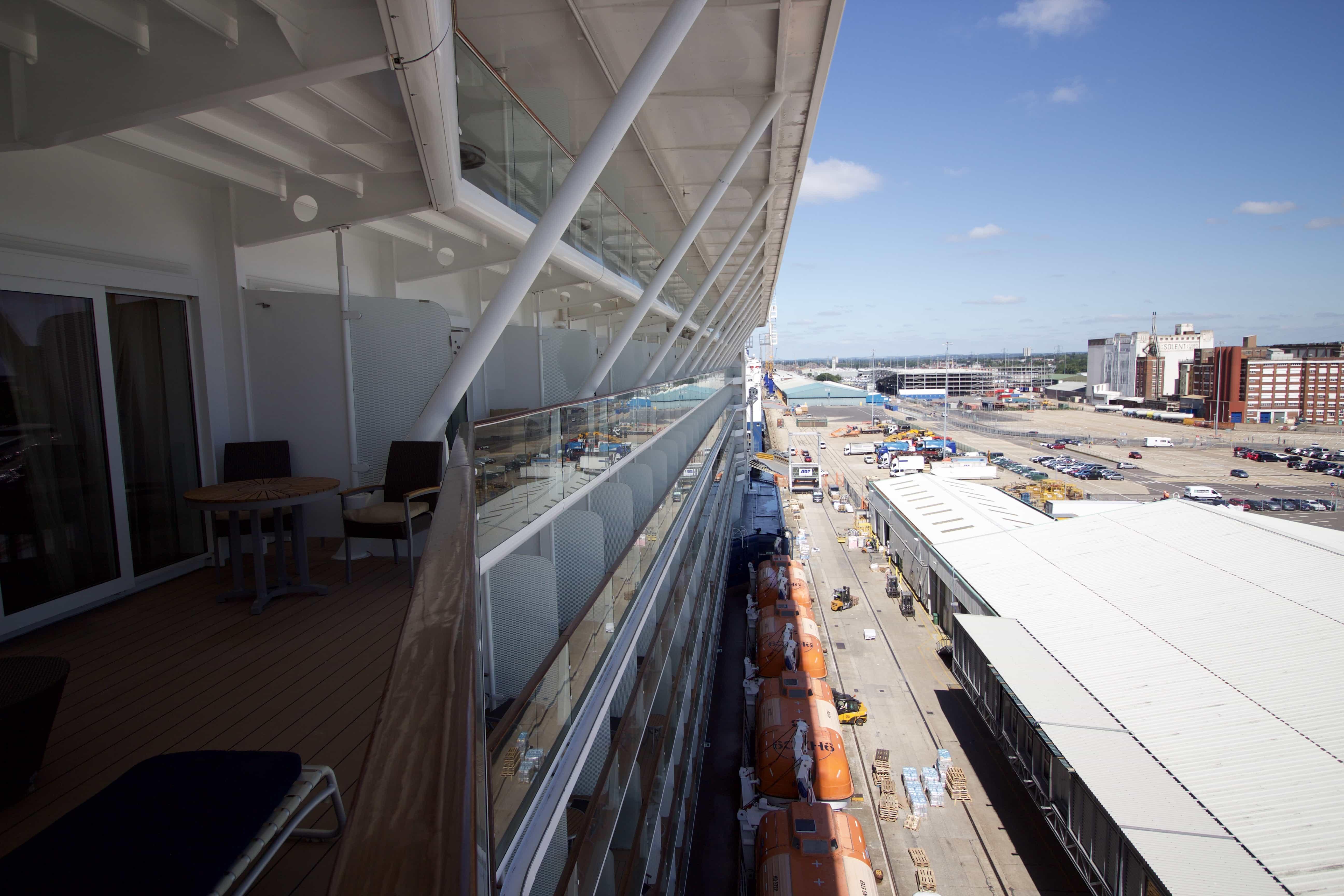 Celebrity Eclipse side of ship cruise ship life boats southampton dock port
