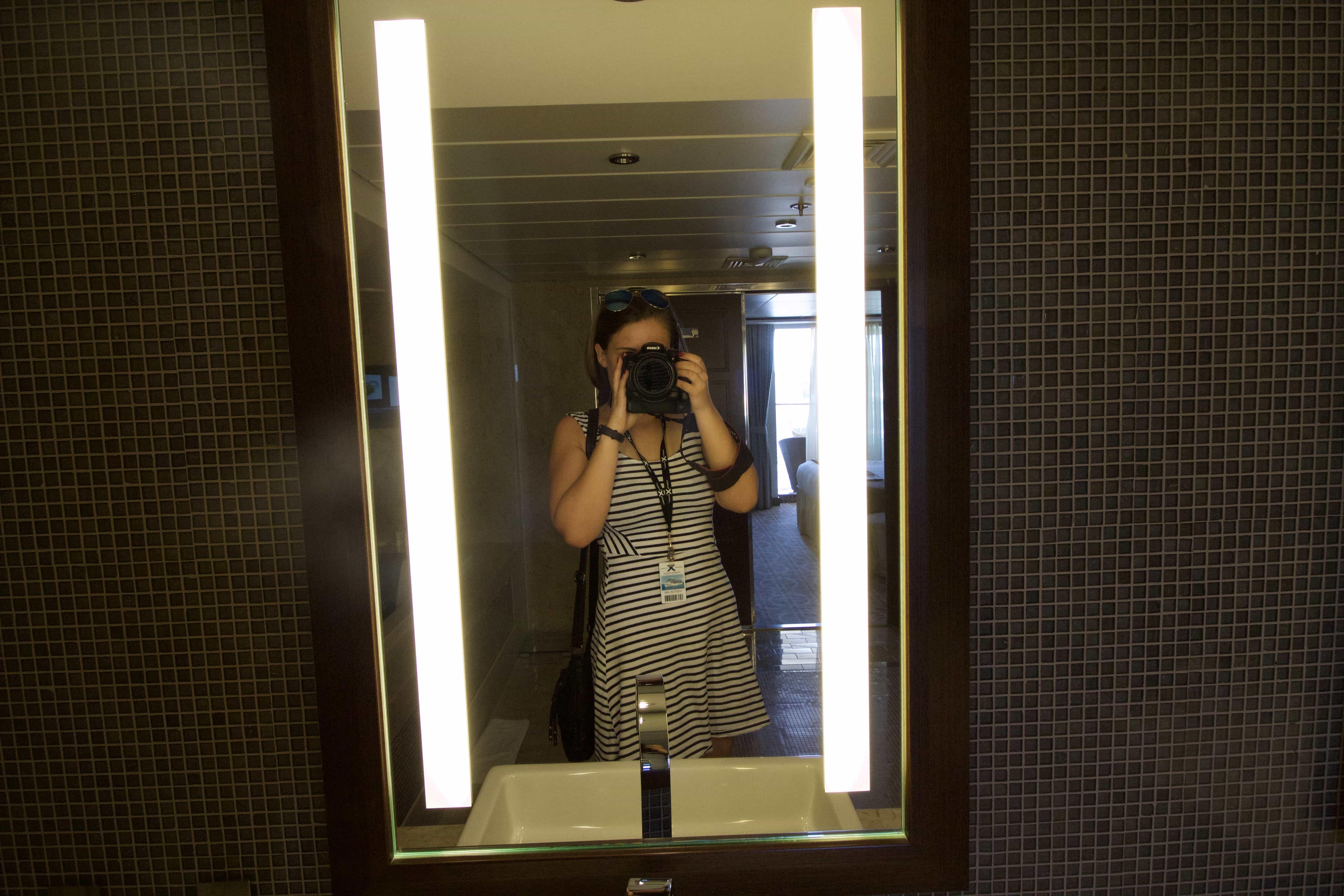 Celebrity Eclipse - Penthouse suite, me! girl selfie mirror photo canon 600D blogger