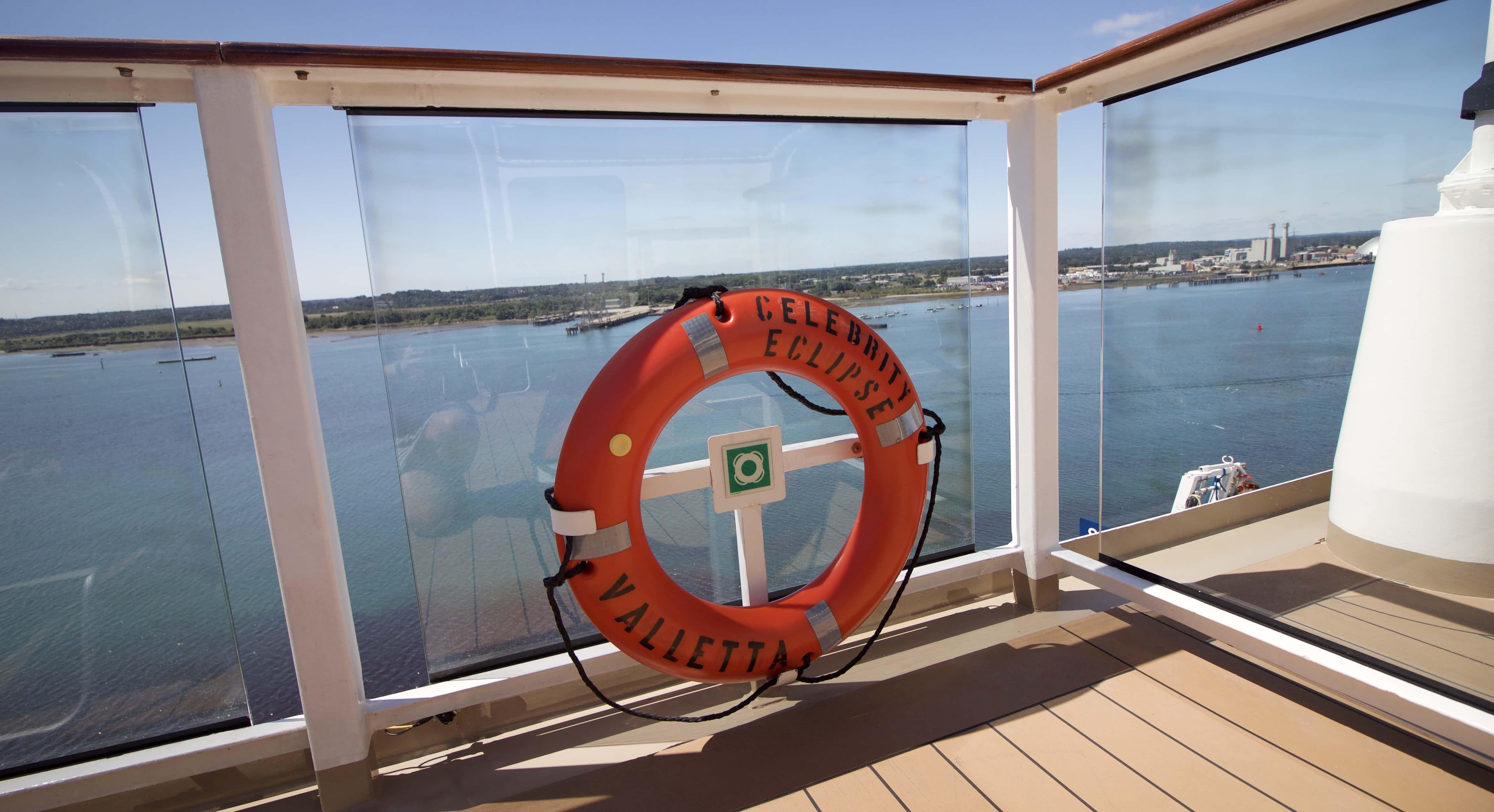 Celebrity Eclipse - Valletta life deck balcony view