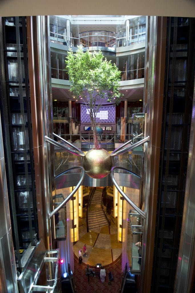 Celebrity eclipse tree atrium cruise ship cruise line cruises