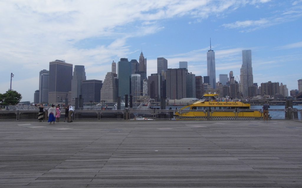 New york harbour skyline water taxi