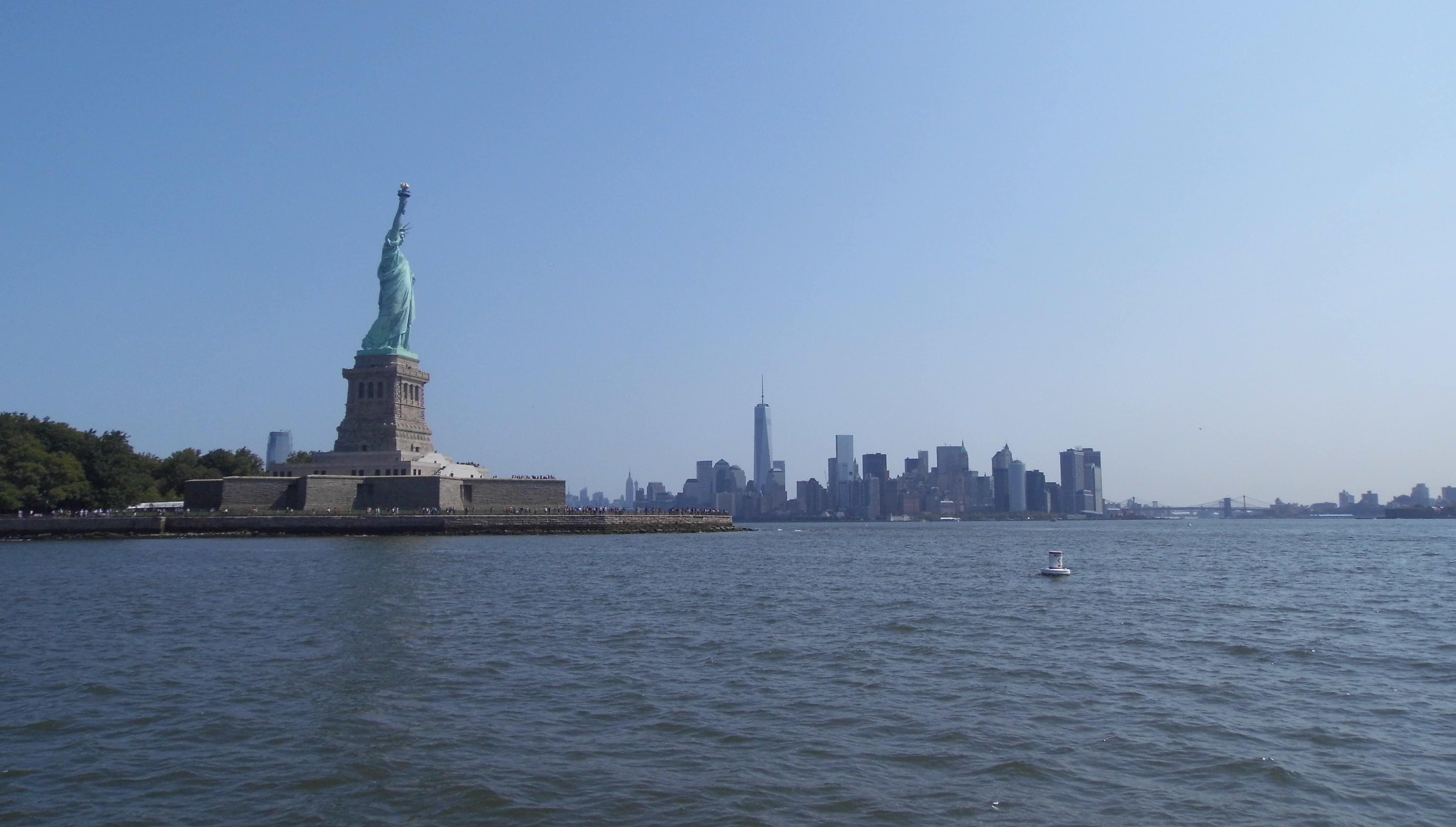 transatlantic cruise new york statue of liberty skyline