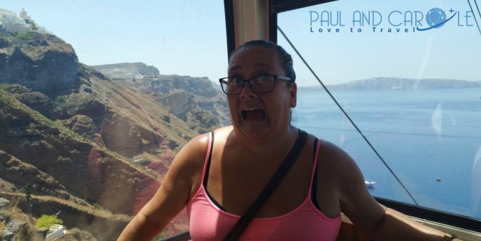 carole cable car santorini cruise line cruise ship