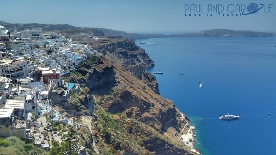 santorini greece cruise ship cruise line view of ocean sea