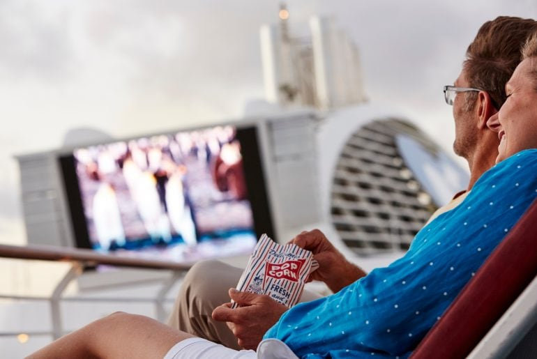 Movies under the stars princess cruises film popcorn