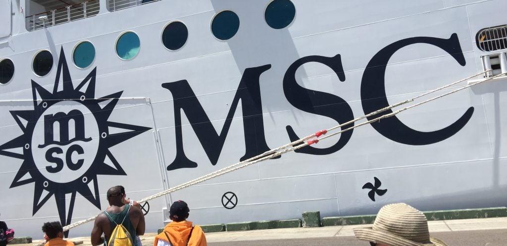 msc divina cruise taster short cruise ship side