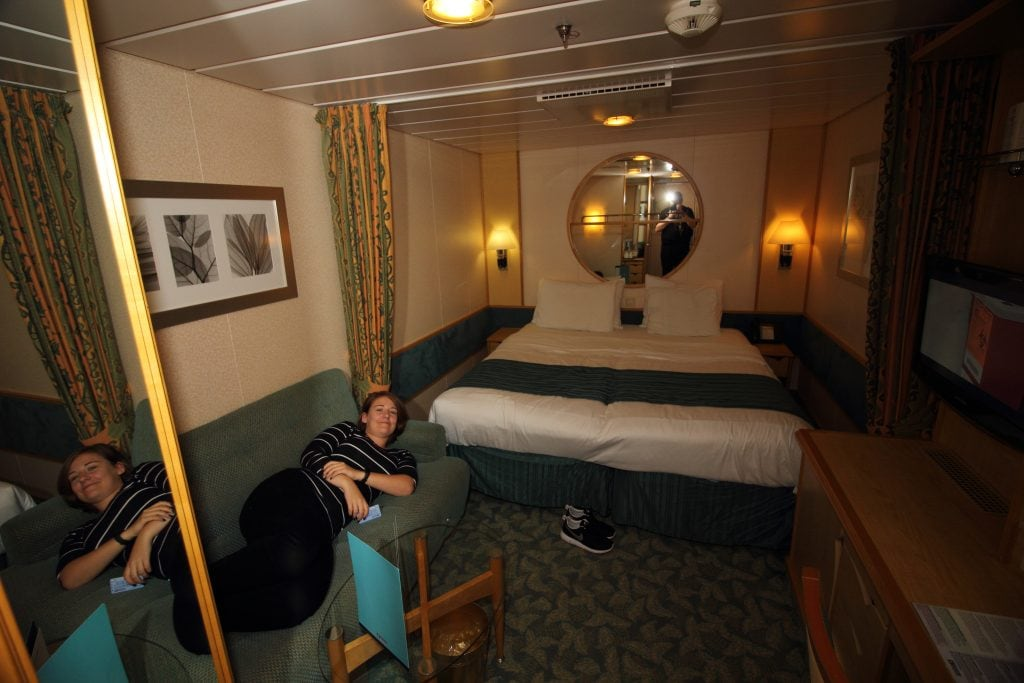 royal caribbean independence of the seas inside cabin two people sofa bed mirror