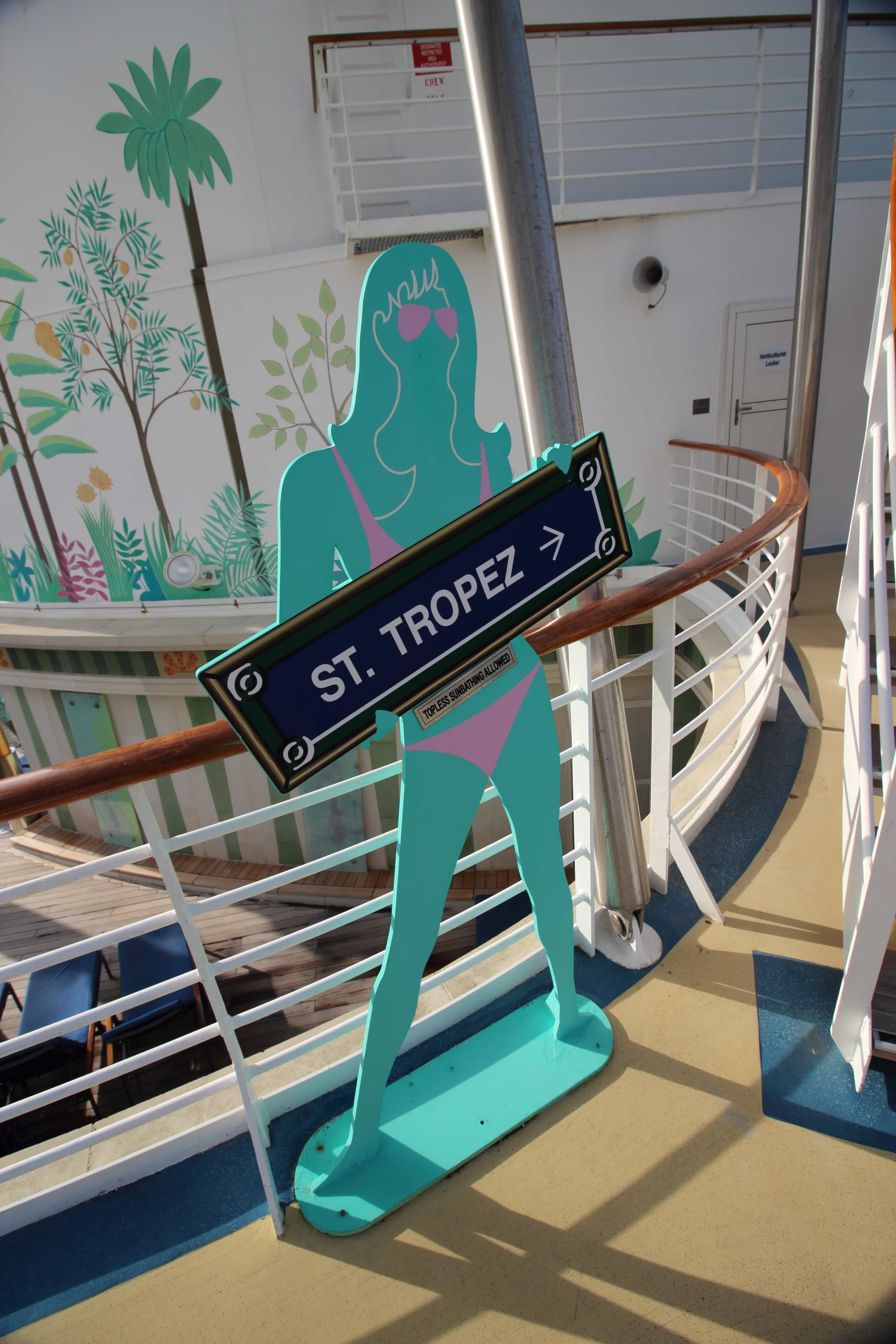 royal caribbean independence of the seas top deck