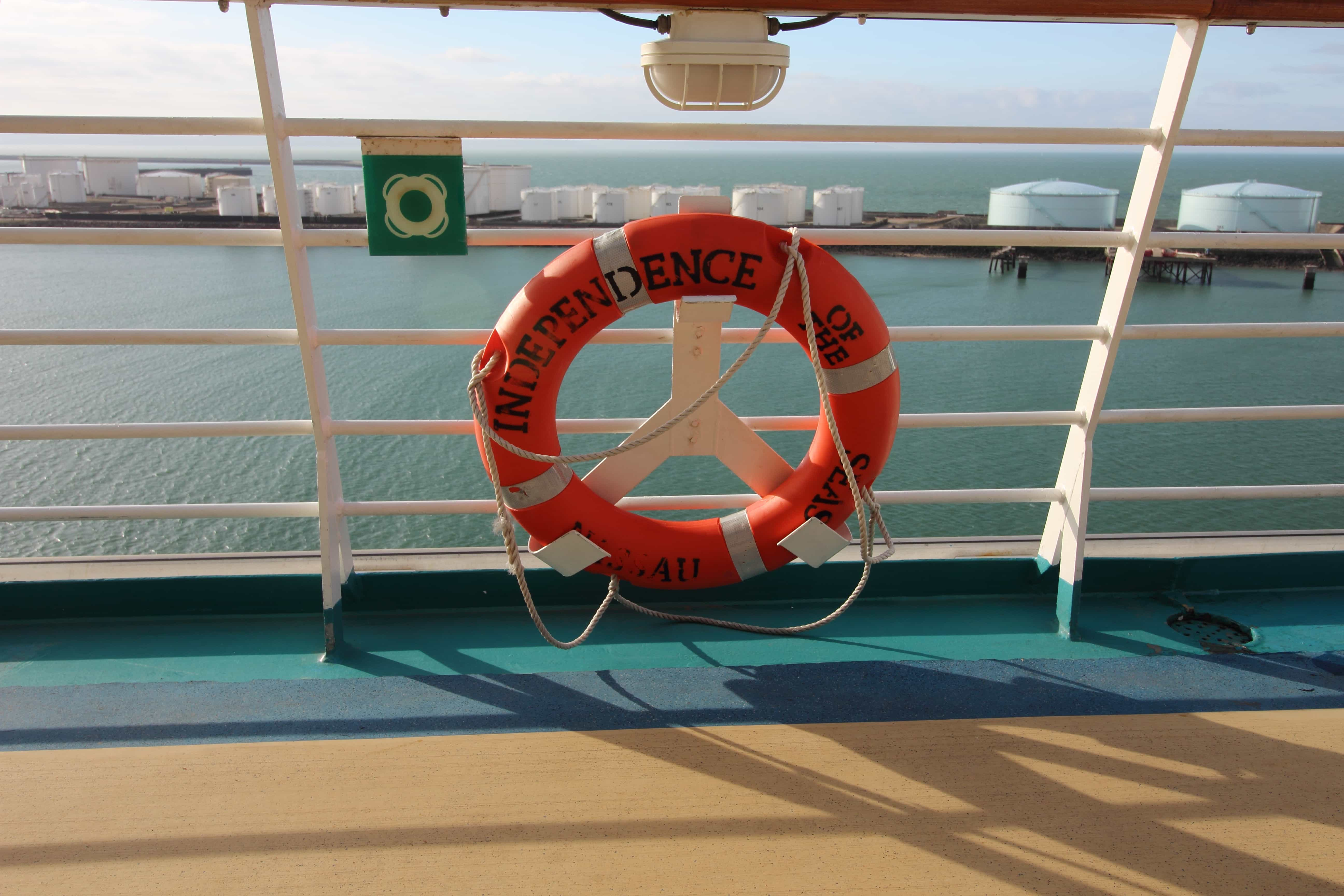royal caribbean independence of the seas life ring preserver