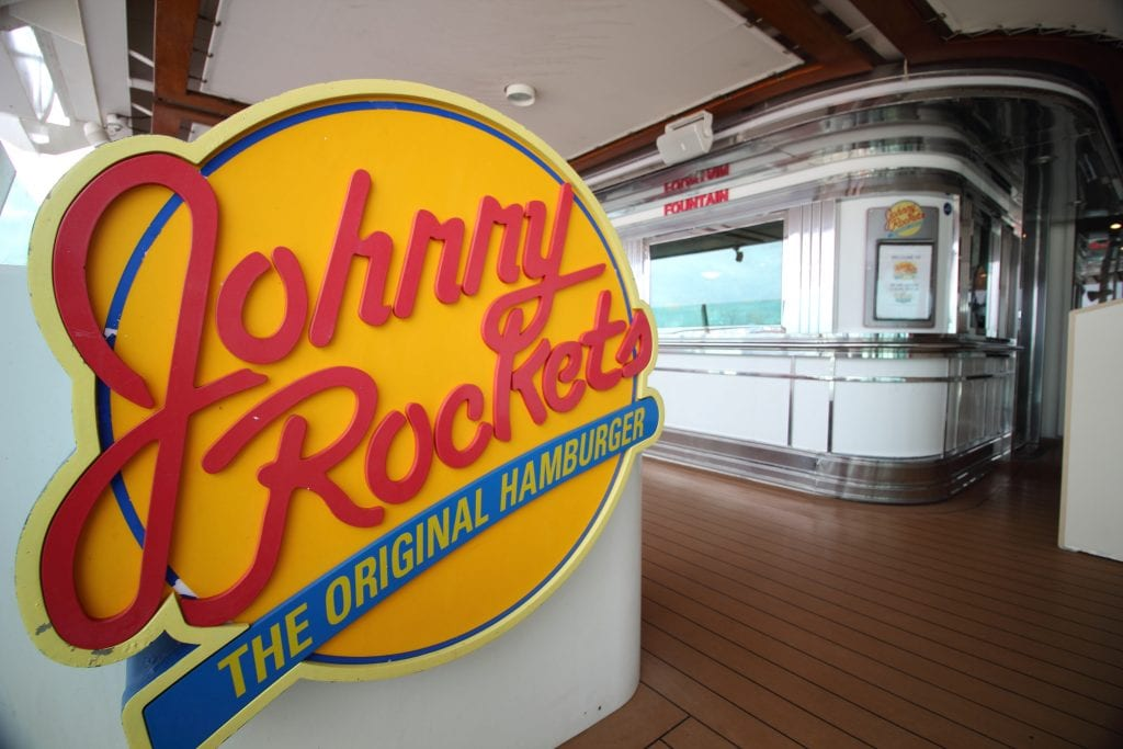 johnny rockets royal caribbean independence of the seas sign burgers milkshakes