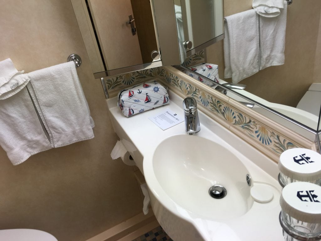 independence of the seas inside cabin bathroom