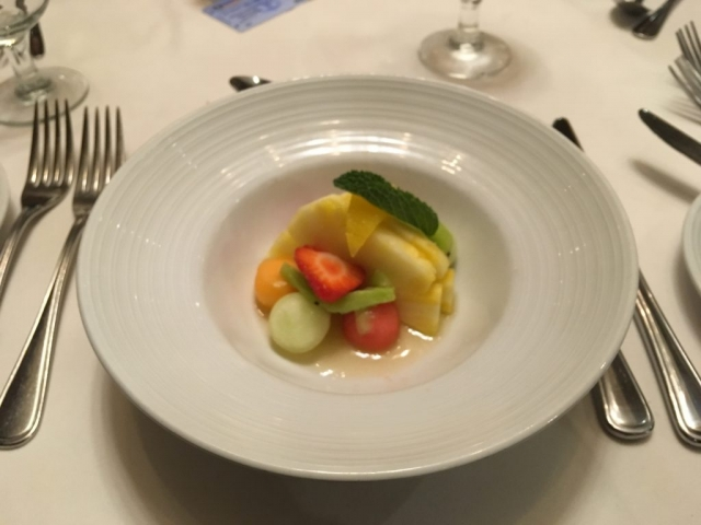 royal caribbean independence of the seas fruit starter main dining room dinner