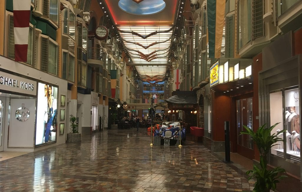 independence of the seas royal caribbean promonade deck shopping shops