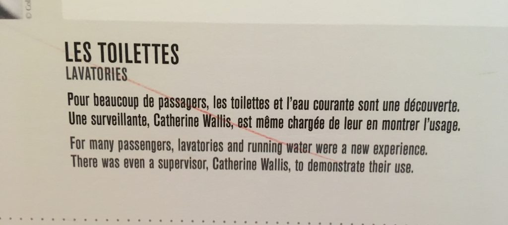 toilets on the titanic sign cite de la mare cherbourg
