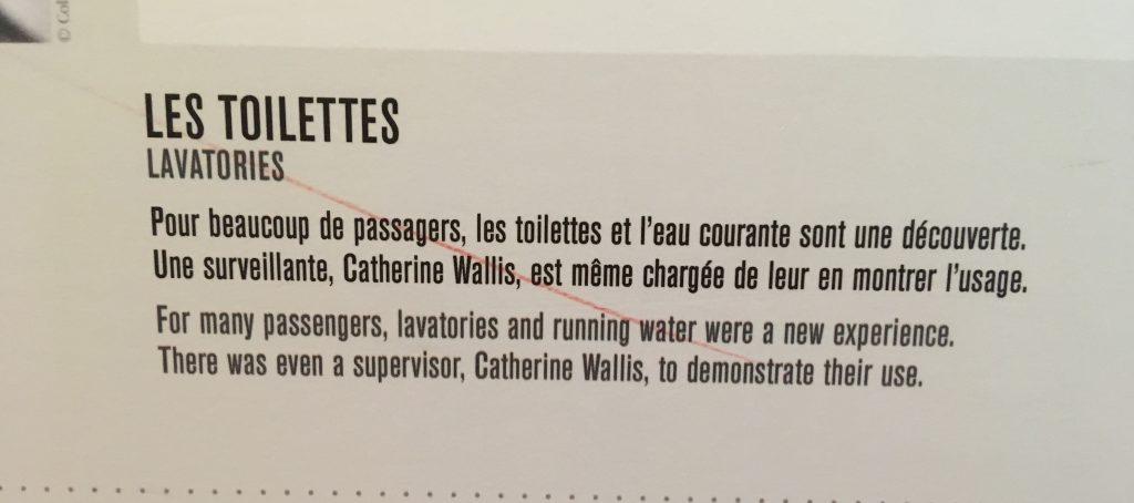 toilets on the titanic sign cite de la mare cherbourg