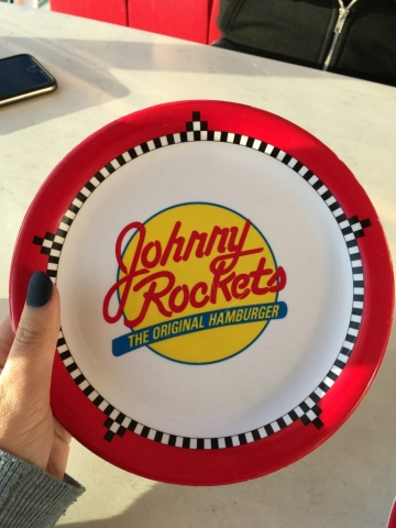 royal caribbean independence of the seas johnny rockets plate