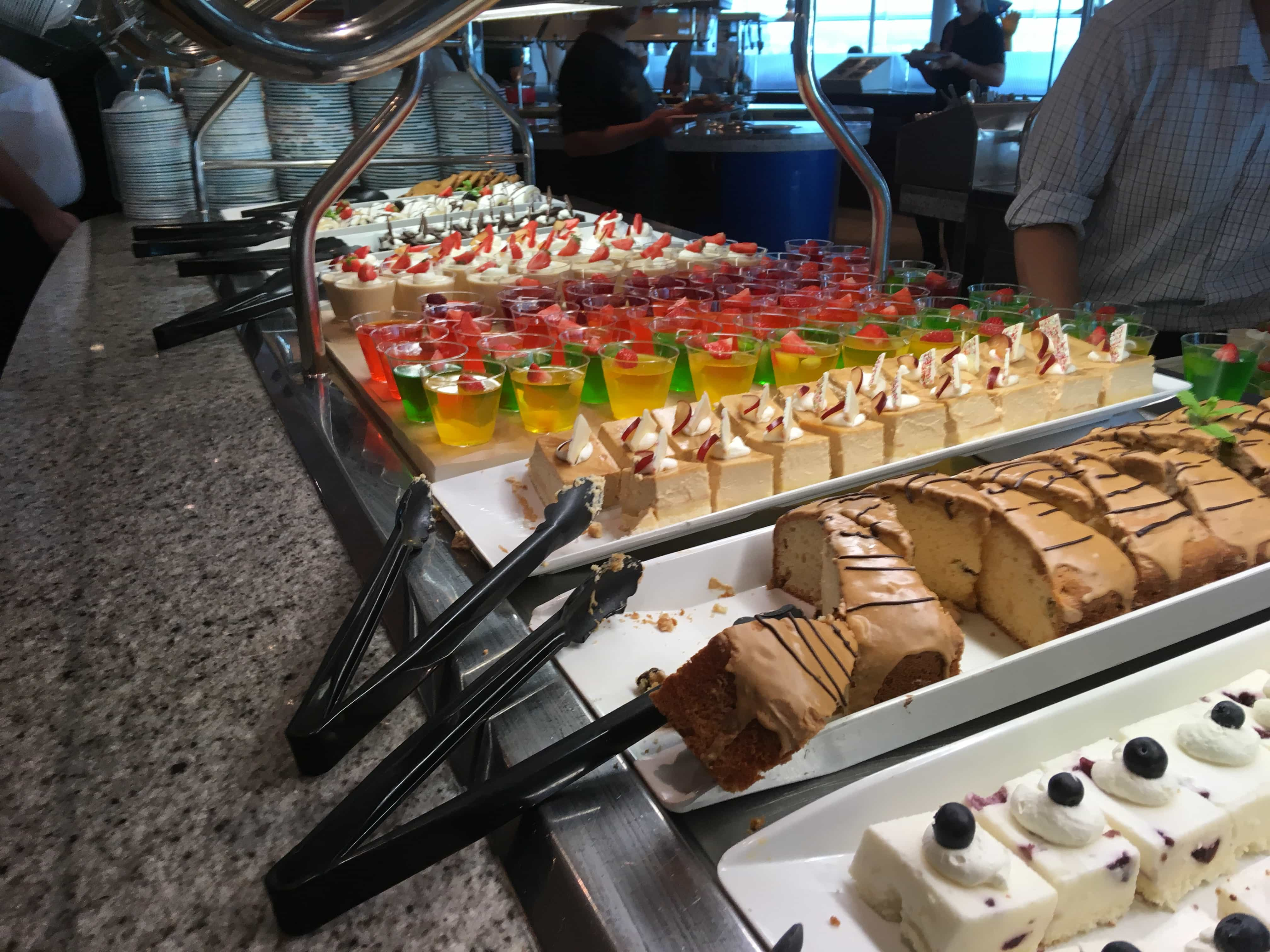 royal caribbean independence of the seas buffet cake windjammer desserts
