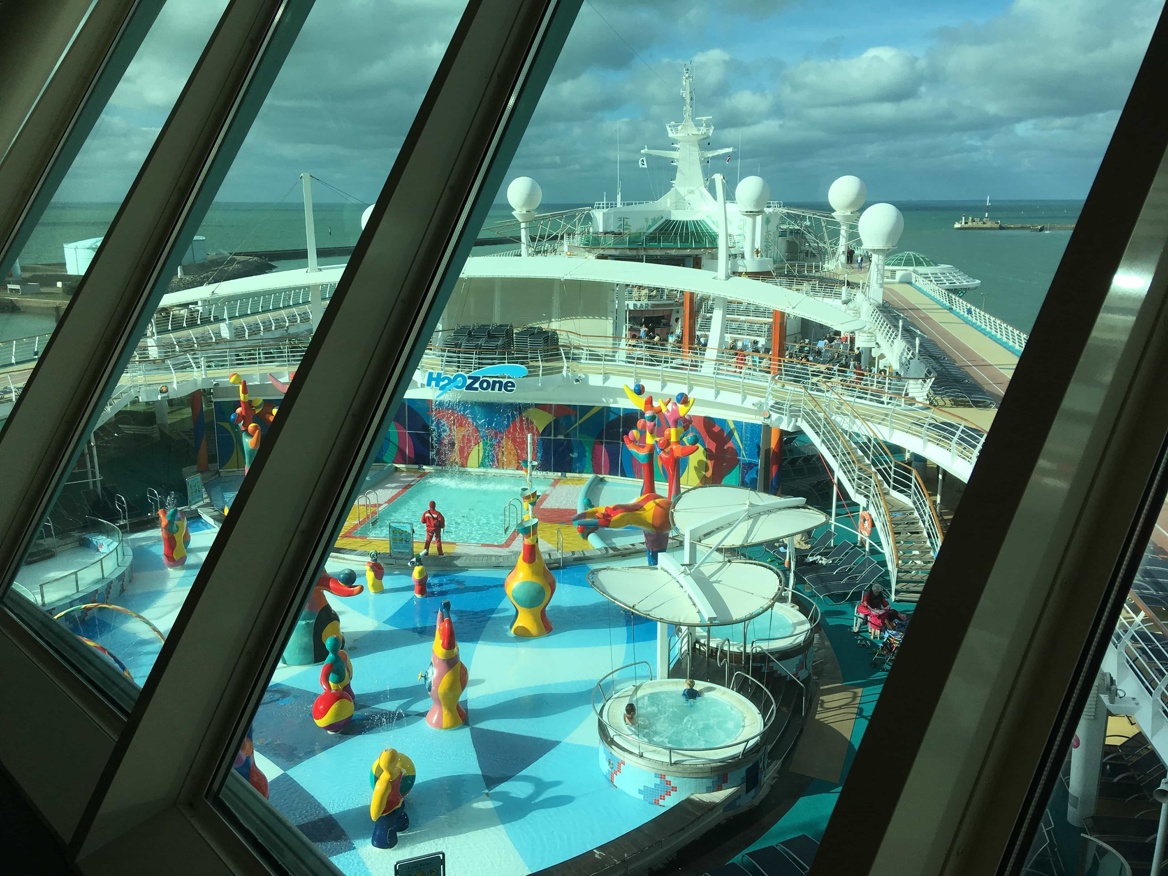 royal caribbean independence of the seas h20 zone view from olive and twist
