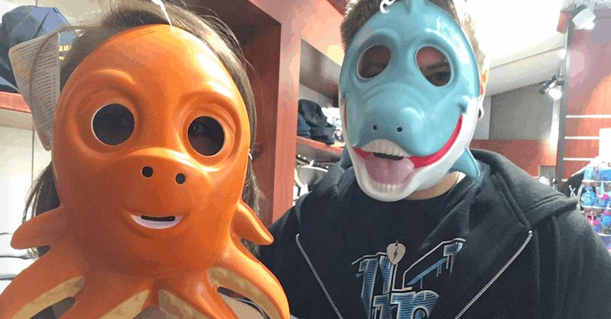 cherbourg cite de la mare gift shop octopus shark mask