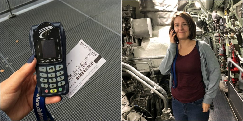 cite de la mare submarine redoubtable audio guide inside