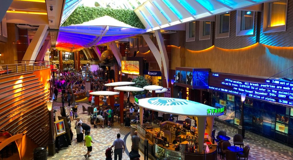 oasis of the seas promenade shopping