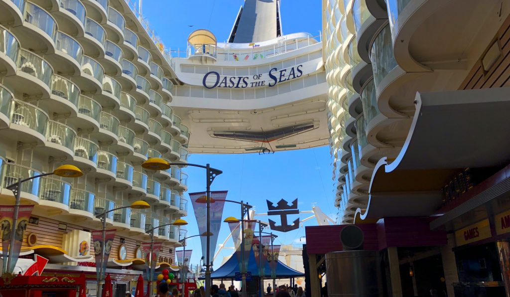 oasis of the seas cruise ship royal caribbean sign logo