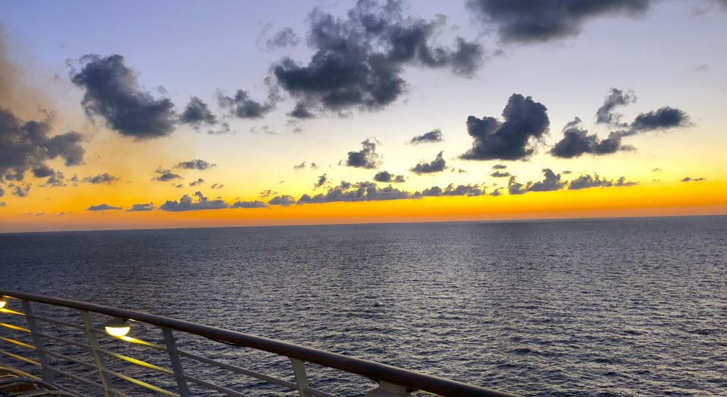 oasis of the seas sunset cruise ship balcony
