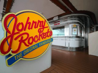 johnny rockets independence of the seas royal caribbean sign food restaurant red yellow