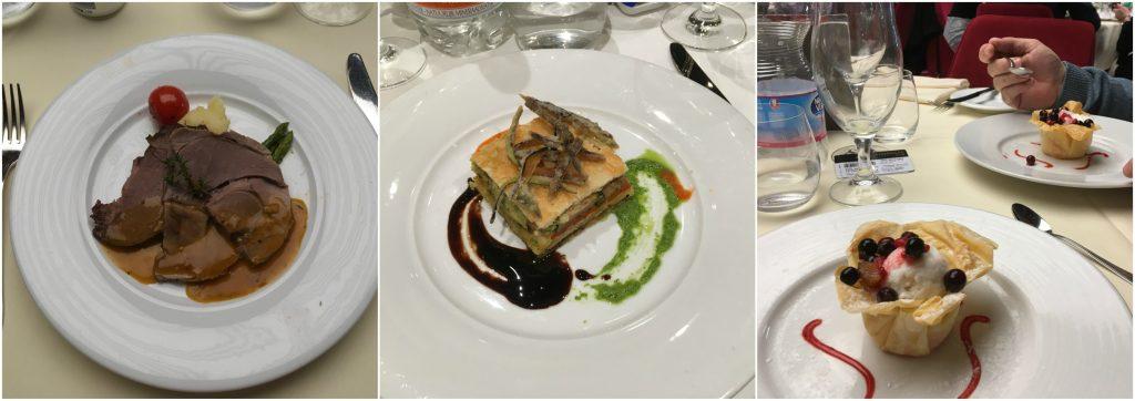 MSC main dining room food vegan dessert starter main meraviglia