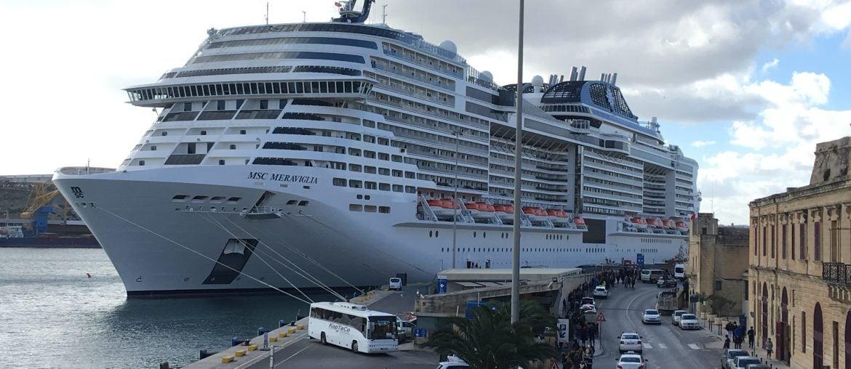 MSC Meraviglia in Malta cruise ship valletta