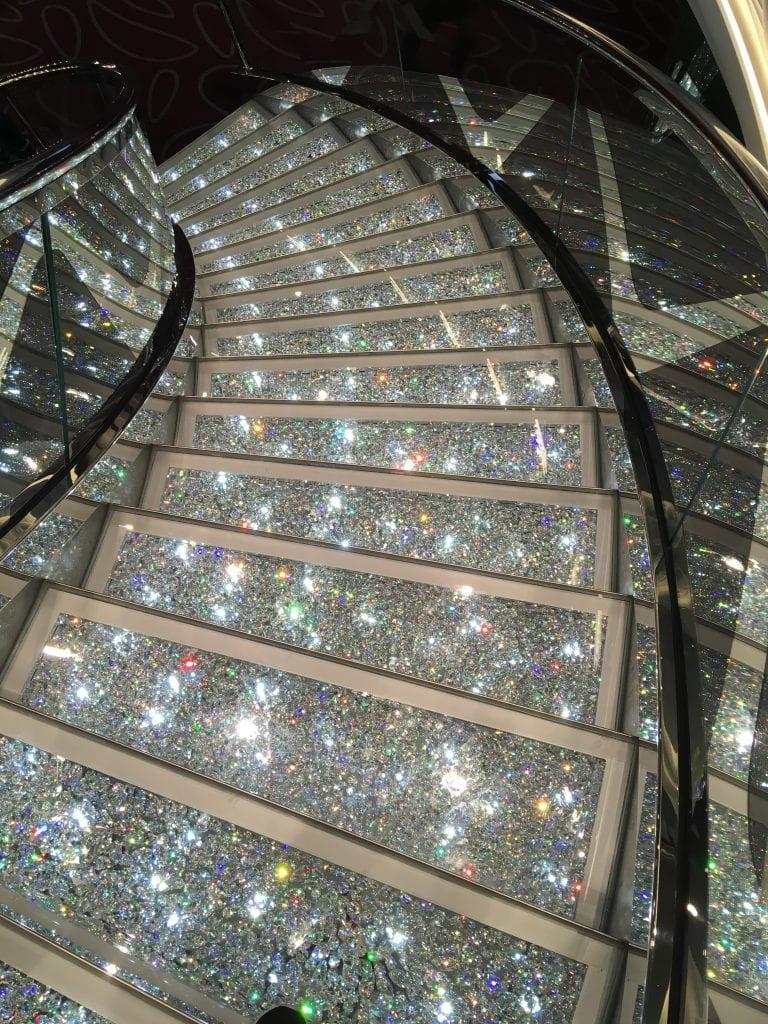 msc meraviglia crystal stairs
